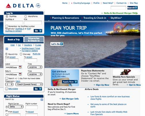 Ian Shive on Delta.com Homepage | Ian Shive Photography
